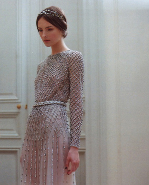 silverscents:  Allaire Heisig backstage at Valentino Haute Couture F/W 2011  This makes me think of Guinevere from King Arthur stories.