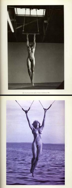 Two female body builders:  Lisa Lyon by Helmut Newton - Madonna by Steven Meisel