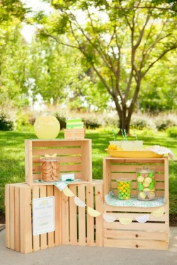 SUMMER LOVIN: A LEMONADE STAND So sweet and so nostalgic. Inspired to have your own lemonade stand this summer? Get the complete at One Charming Party.
