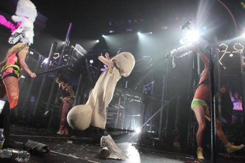 radbad:  dancing penis on stage at a ke$ha concert