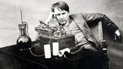 "sciencecenter:  123 years ago, Thomas Edison produced the very first commercially-available recording - a woman reciting ""Twinkle, Twinkle, Little Star"" And today, thanks to the work of a few scientists at Lawrence Berkley National Laboratory, we can hear the recording again. Using a confocal microscope, the researchers were able to map the topology of a badly damaged cylinder on which the recording was made. They then converted the grooves into sound, and - voila! - a century-old woman's voice came back to life. The recording was sold with a doll, which could be cranked to recite the nursery rhyme. You can listen to the rather haunting recording here.   this is haunting and jaring."