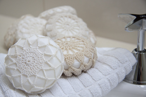How To: Doily-Covered Soap