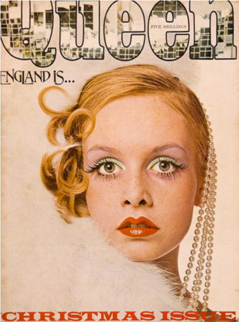 bebelestrange:  Twiggy on the cover of Harpers & Queen, December 1973