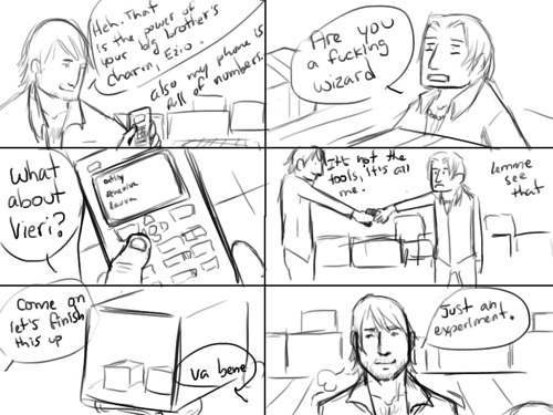 page 7. C: This is…so ridiculous. IDEK. :'D But yeah. IT'S JUUUST A LITTLE CRUSH(CRUSH)~ except it's not and you all know that because I love FedVi they will end up together making out at some point. And buying a puppy together or some shit and Federico will want to name it something dumb and then they'll fight over the puppy's name. /I don't know what the fuck I'm talking about