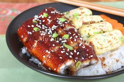 Unagi and tamago rice bowl