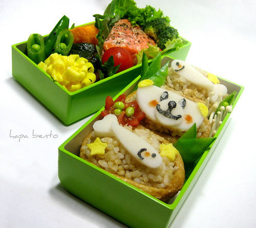 Super cute bear bento