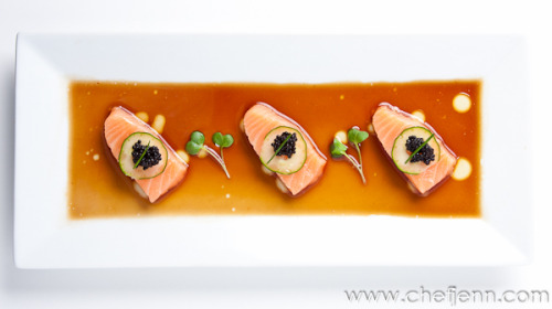 Salmon Belly, Caviar, White Truffle