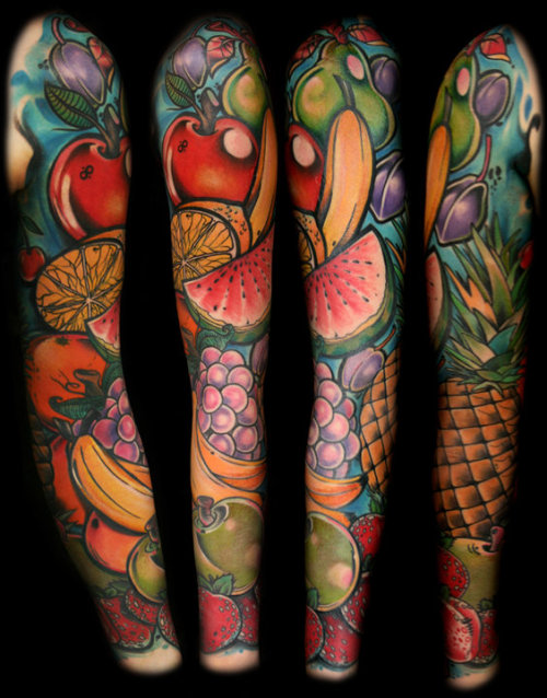 tattoome:  Fruit #tattoo by Davee Blows