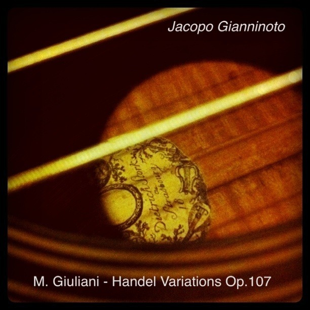 Jacopo Gianninoto has a new recording! Check it out.  M. Giuliani - Handel Variations Op.107 for sale on iTunes now! Recorded on my Romantic Guitar with Nylgut strings… http://itunes.apple.com/us/album/m.-giuliani-handel-variations/id449921018