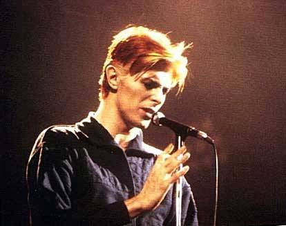 David Bowie on stage Philadelphia 1976