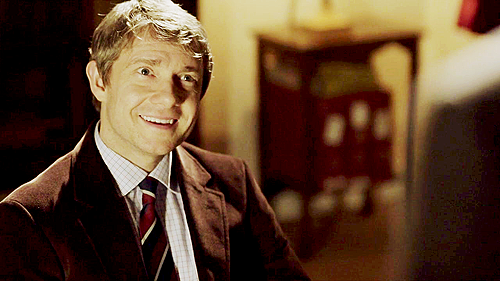 Martin Freeman as John Watson in BBC's Sherlock. Thank you for your submission! Unfortunately tumblr seems to have misplaced your info - please let me know who you are!  Sent by varioussundries  Also, I wonder if this Watson likes jam. Send me your Guys in Ties