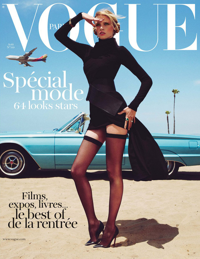 Vogue Paris, August 2011 by Inez & Vinoodh featuring Lara Stone.