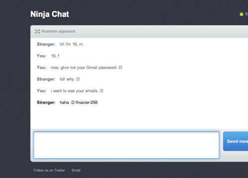 My recent conversation on ninja-chat :D