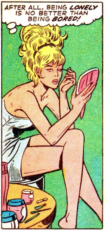 comicallyvintage:  Being Lonely Is No Better Than Being Bored!