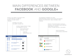 MAIN DIFFERENCES BETWEEN FACEBOOK AND GOOGLE+ albertoantoniazzi.com