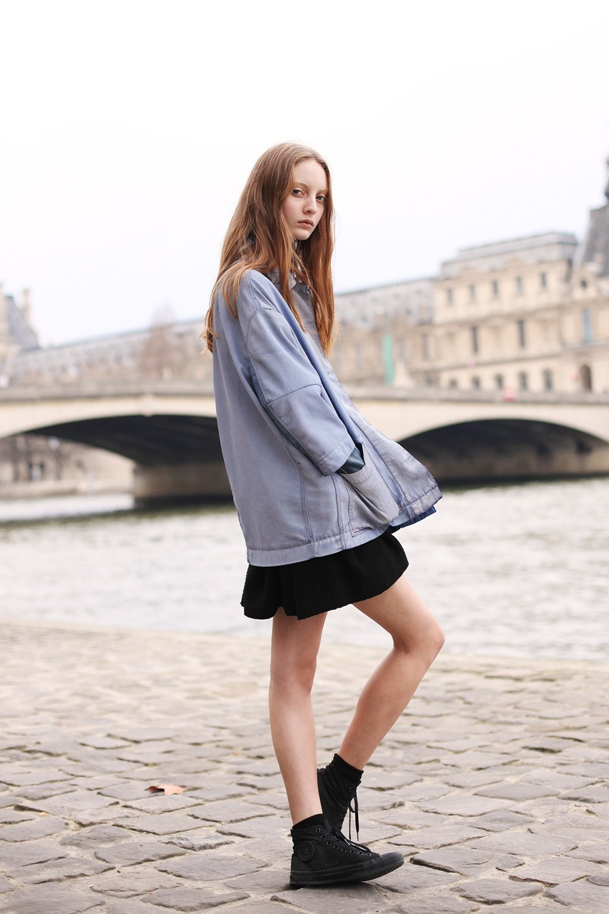 Codie on the Seine, Paris, for Vogue Australia