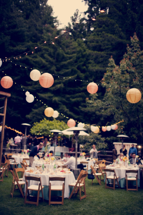 Can you ever have to many twinkle lights + paper lanterns?