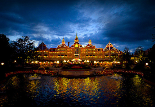Blue Hour At The Disneyland Hotel by William McIntosh