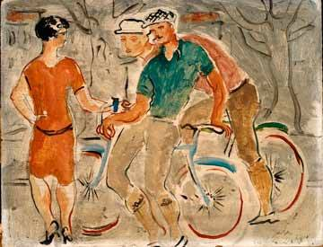 Christopher Wood, 'French Cyclists' Liverpool Museums.