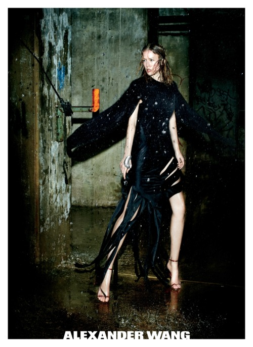 First Look: Alexander Wang goes to Brooklyn for his Fall 2011 campaign featuring the fierce and fabulous Raquel Zimmerman shot by Fabien Baron and styled by Karl Templer. It just doesn't get any hipper than that. Photo: Courtesy of Alexander Wang