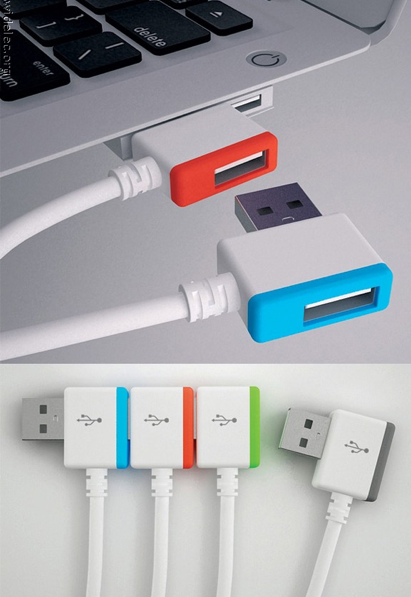 dailydesignbits:  Linkable USB ports - Does this exist? If so where can I buy these????