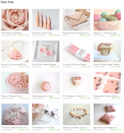 Think Pink! Etsy Treasury