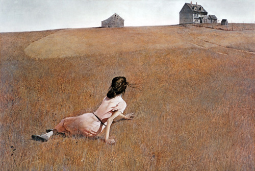 "Christina's World, 1948  Andrew Wyeth:""I dream a lot. I do more painting when I'm not painting. It's in the subconscious."" (168 paintings)"