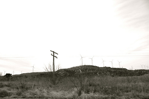 Subterranean homesick blues.Wind Farms, Central Texas: 17 February 2011