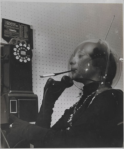 Martian Woman on the Telephone, 1955. Photo by Weegee