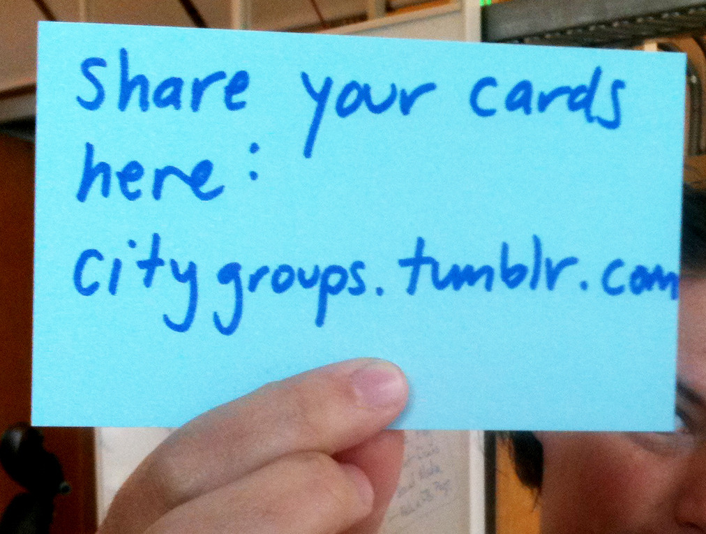 This is the place where we can share our cards. (Though must figure out to do that with tumblr…)