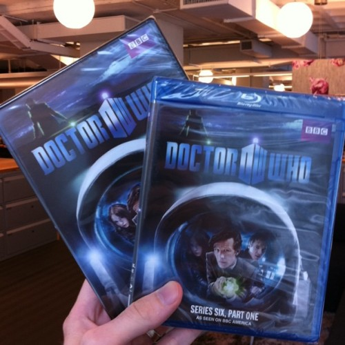 """Look what just arrived to the office, new #DoctorWho Blu-ray & DVD. Drops 7/19"" (via @BBCAmerica on Instagram)"