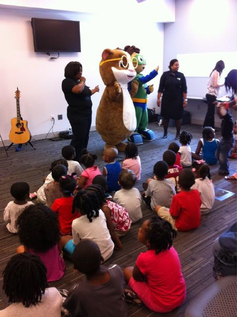 We were at the Anacostia Neighborhood Library in DC earlier this week hosting a reading party w/ JetBlue & PBSKids to celebrate summer reading.