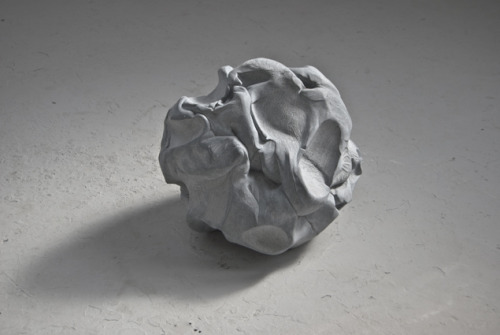 Malleable Clay? Blu-tack? Nope. Gorgeous sculpture wonderfulness, made from limestone.  Touchstone (1) , 2010, Kilkenny limestone, 55cm x 55cm x 55cm Jessica Harrison
