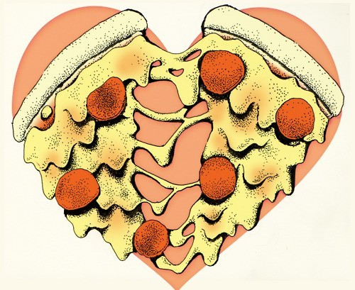 coloring-book:  I love pizza.  It's never enough, ever… <3  Cuuuute!