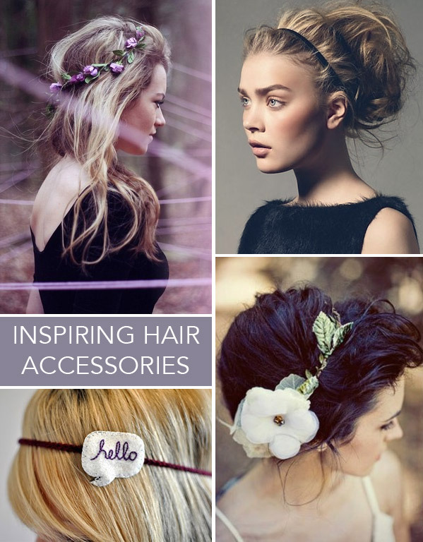 Ideas from Beautylish on fun ways to change up your hair with pretty accessories!