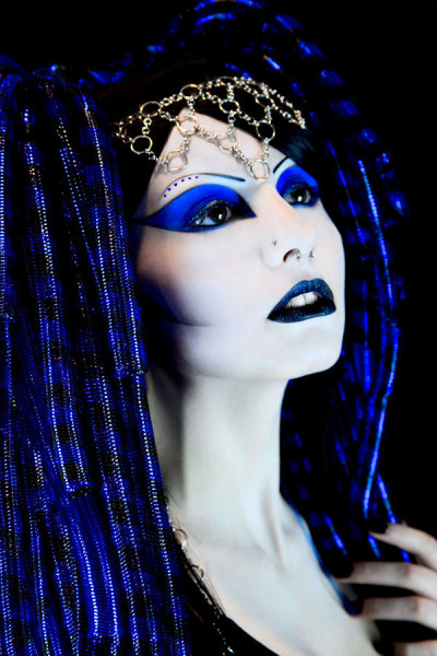 Miss Synthetic Lady in Blue