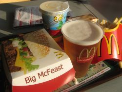 So apparently German McDonalds' serve beer with your meal. @  D@