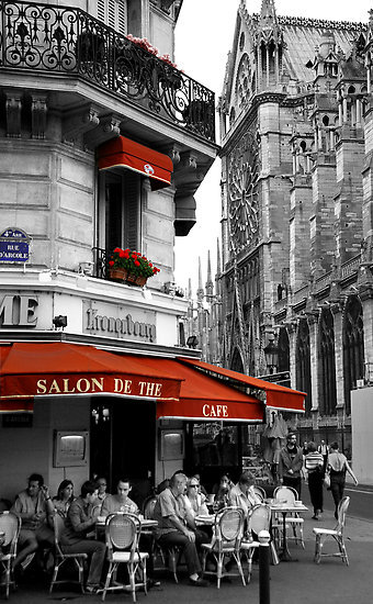 "heartbeatoz:  (via ""French Cafe at Notre Dame"" Fine Art Print by Andrew Wilson 