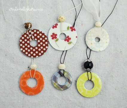 (via Washer Necklace Tutorial | Creations by Kara)