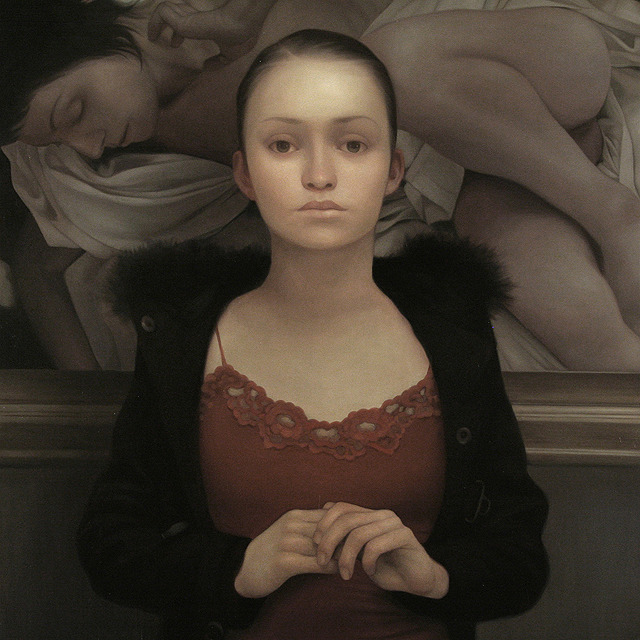 Aliza, oil on panel, 48 x 48 inches, 2008