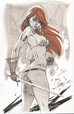 perpetual-loser:  Red Sonja by J. Scott Campbell.