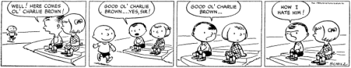 How cute! The first appearance of Charlie Brown, from October 2, 1950.