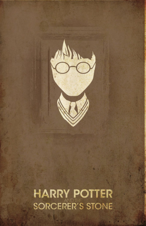 Minimalist poster for Harry Potter and the Sorcerer's Stone. This was one of the items I highlighted in this week's Etsy Made Me Do It. Art is by Christian Petersen.