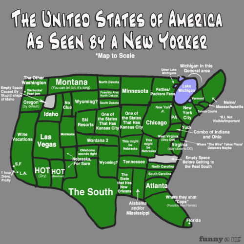 The USA as seen by a New Yorker.  (via FunnyorDie)