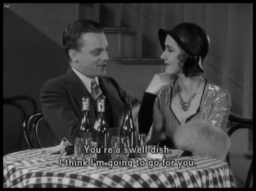 James Cagney thinks Mae Clarke is a swell dish……………..The Public Enemy (1931)