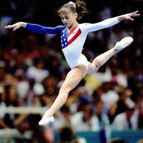 1)One of my favorite gymnasts from this era in gymnastics2)Probably my favorite Team USA leotard ever 3)Photo credit to Mike Powell/Getty Images