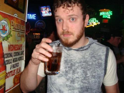 scottiesweater:  I'm an alcoholic.    Sweet blue eyes. Great ginger beard. Sighs. I may be in love again.