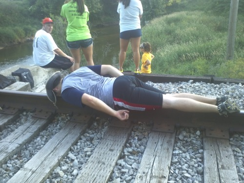 "landingtowne:  Martys ""plank""  I miss him already"
