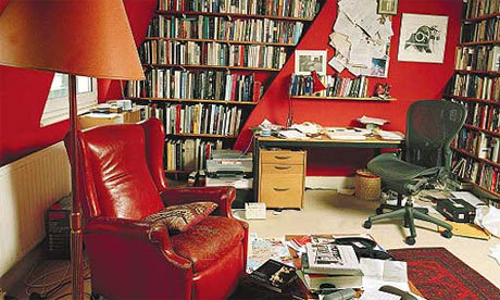 geoffdyer:  Photo sourced from Writers' Rooms: Geoff Dyer (The Guardian's Writers' Rooms series)
