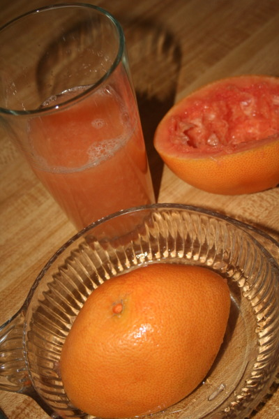 healthyassfood:  SO GOOD. Freshly squeezed grapefruit juice. Didn't add anything to it at all. I'll be honest, it was sort of hard to down because it was SO intense. But it was delicious, in the sips. And it's so good for you. Of course I kept all of the pulp in the juice as well. Yay fiber and other delectoids!